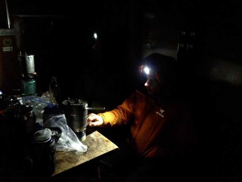 A pair of MSR Reactor Stoves in action! Breakfast time in the Solvay refuge, descending the Matterhorn after climbing the North Face.