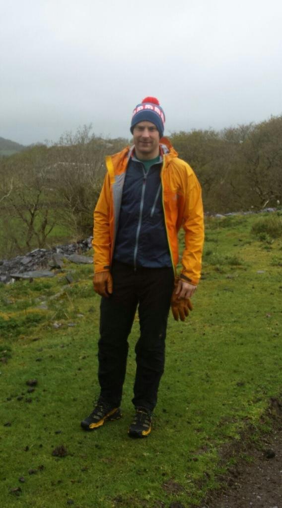 Wild Country Dynamic Jacket worn as a midlayer.