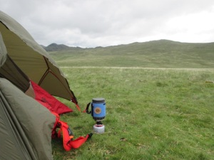 The Primus Lite+ had the best insulated cover of any stove I have used.