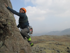 The stiff sole was great for scrambling.