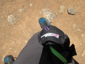 Although there was no stow pocket the Ultralite jacket was compressible enough to stuff into a pocket when climbing.