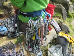 The huge gear loops swallowed big trad racks with ease.