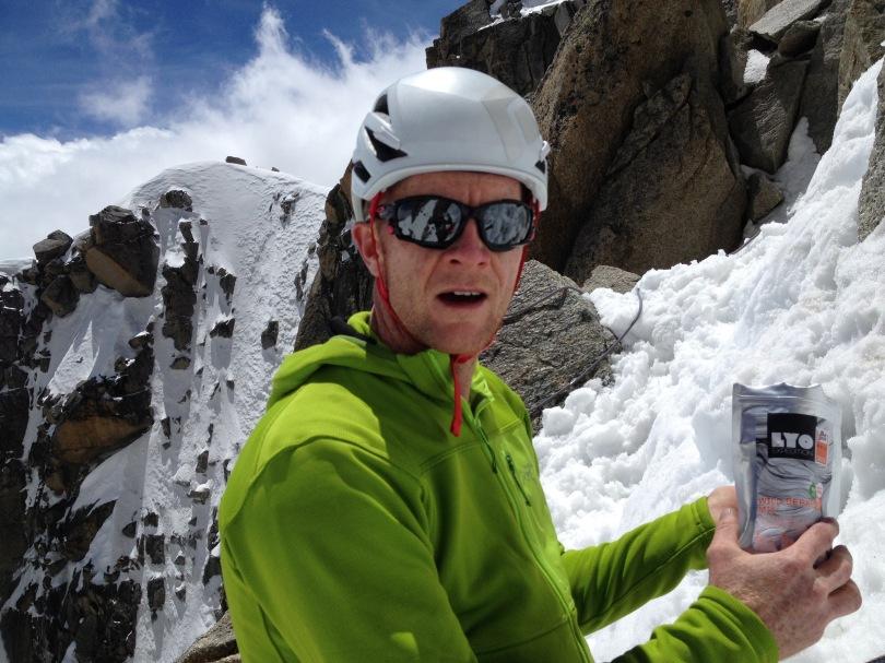Black Diamond Vapor Helmet - light and well ventilated, perfect for summer alpinism.