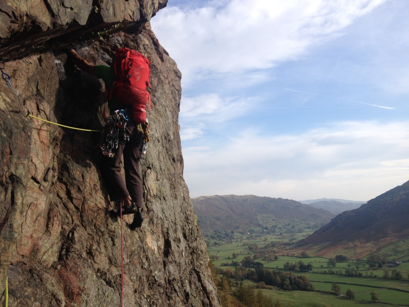 The DMM Mithril is a neat harness perfectly suited to multi pitch rock climbing.