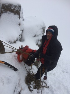 The L4 worked fine as a belay jacket and was plenty warm enough for UK winter conditions.