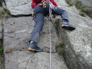 The sole on the Manta Pros were precise enough to rock climb with.
