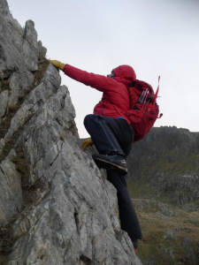 The Manta Pros were great for scrambling - heading up the Cneifon Ridge on a damp windy December.