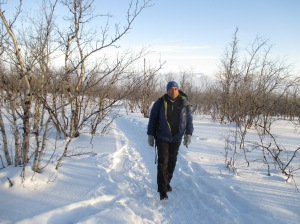 The Sherpa Tharkey was great when the temperatures plummeted. Hiking in Arctic Sweden.
