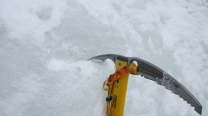 The adze was sharp enough to cut even the hardest of ice.