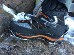 Takes a full C3 crampon really well with no heel lift.