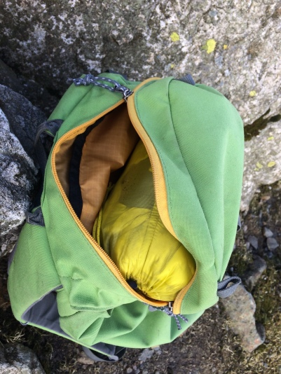 Cerium SL easily fits in a pack's top pocket