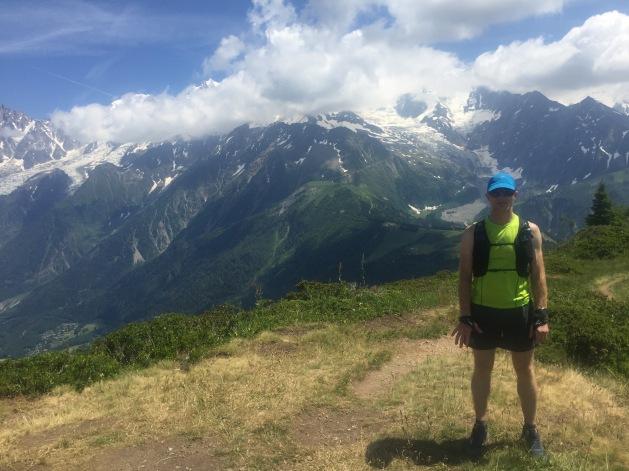 Local hills overlooking Mont Blanc