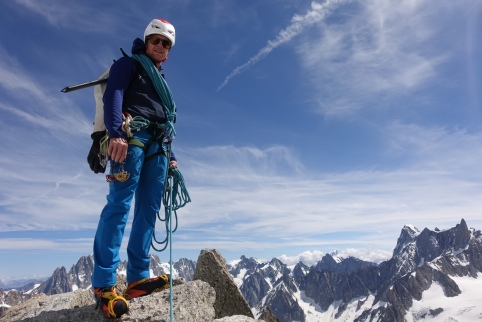 Kevin Avery - guiding in the Alps.